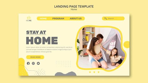 Modelo de página de destino para ficar na página inicial