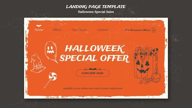 Modelo de página de destino para halloweek