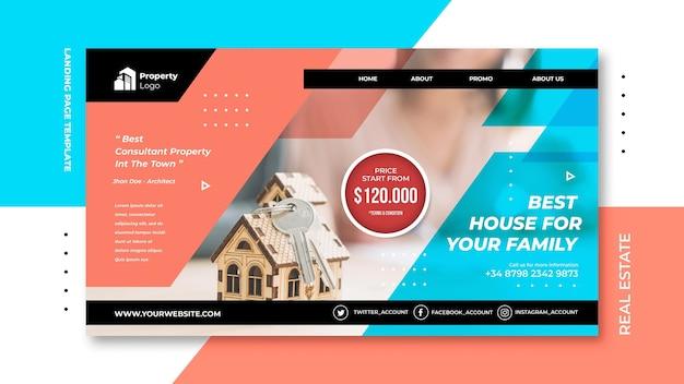 Modelo de página de destino para imobiliária