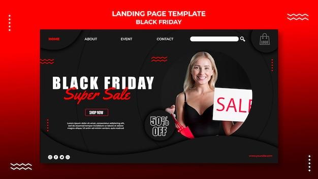 Modelo de página de destino para liquidação na sexta-feira negra