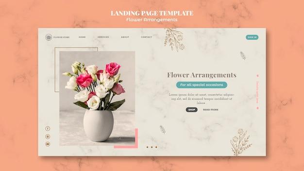 Modelo de página de destino para loja de arranjos florais