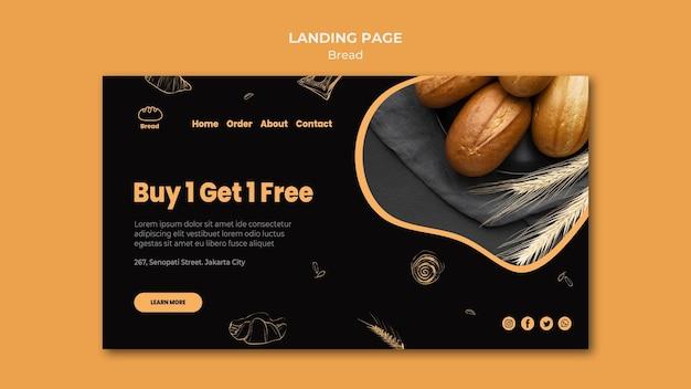Modelo de página de destino para loja de pães