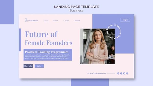 Modelo de página de destino para mulheres em negócios