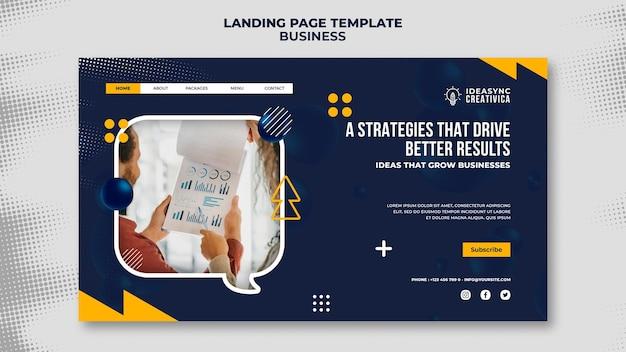 Modelo de página de destino para negócios
