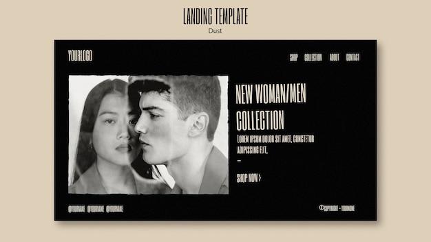 Modelo de página de destino para nova coleção de moda