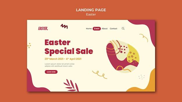 Modelo de página de destino para o dia de páscoa