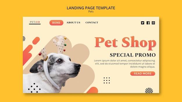 Modelo de página de destino para pet shop