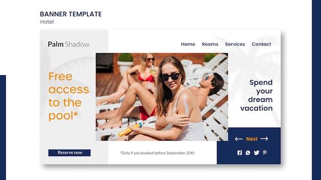 Modelo de página de destino para reserva de hotel