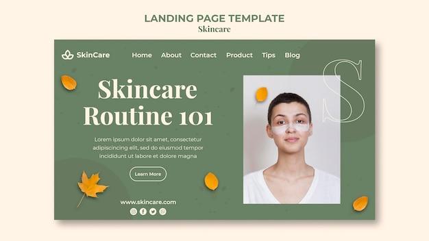 Modelo de página de destino para skincare