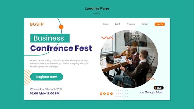Modelo de página de destino para webinar e início de negócios