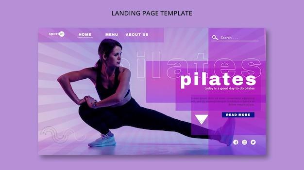 Modelo de página de destino pilates training