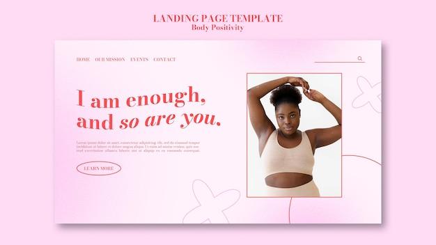 Modelo de página de destino positiva do corpo