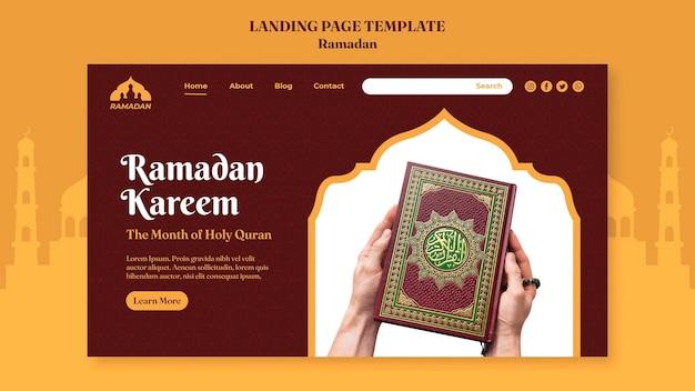 Modelo de página de destino ramadan kareem