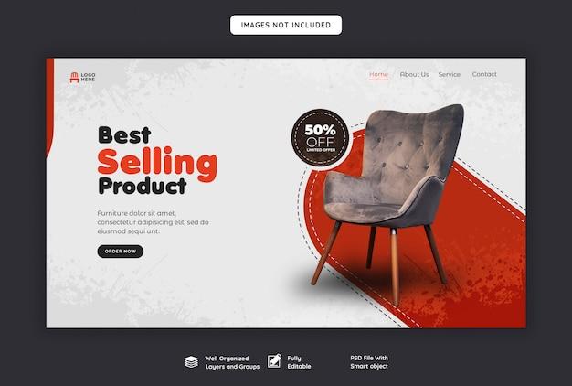 Modelo de página de destino web venda de móveis