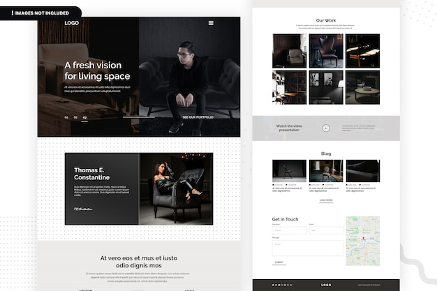 Modelo de página de site fresh vision for living space