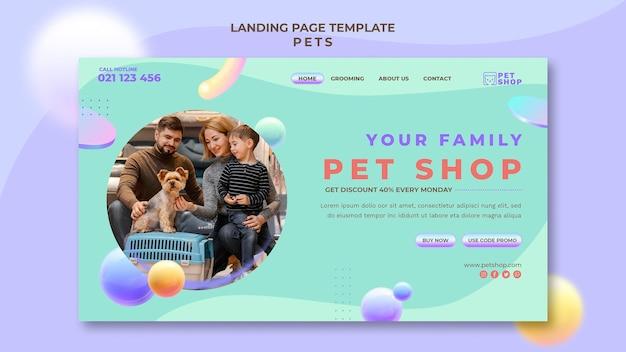 Modelo de página inicial de animais de estimação