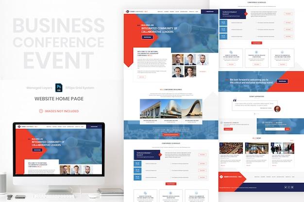 Modelo de página inicial de site comercial