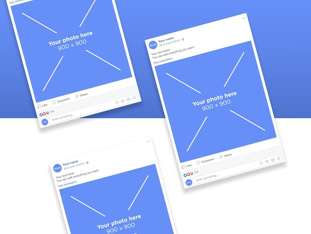 Modelo de páginas de smartphone de rede social