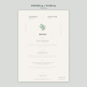 Modelo de panfleto a6 elegante casamento