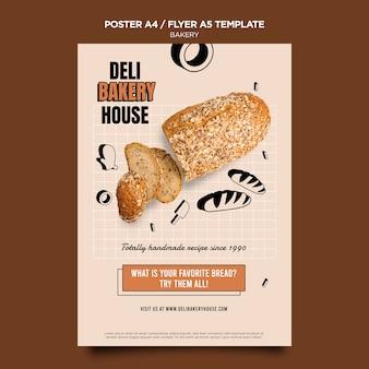 Modelo de panfleto de casa de padaria