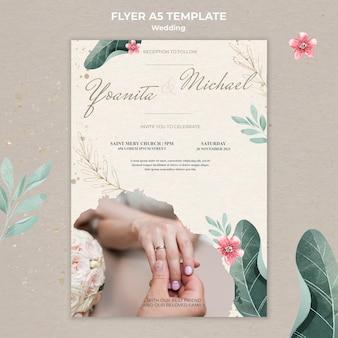 Modelo de panfleto de casamento