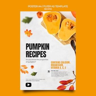 Modelo de panfleto de comida de outono
