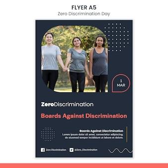 Modelo de panfleto de dia de discriminação zero