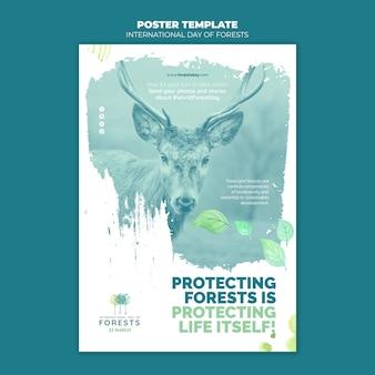 Modelo de panfleto de dia de florestas criativas