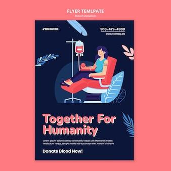 Modelo de panfleto de doação de sangue