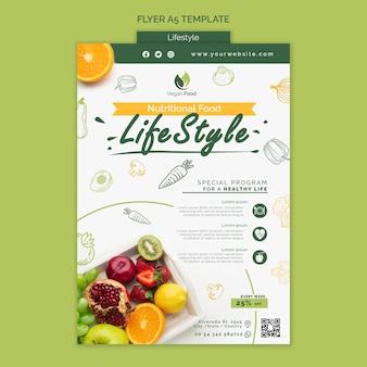 Modelo de panfleto de estilo de vida de alimentação saudável