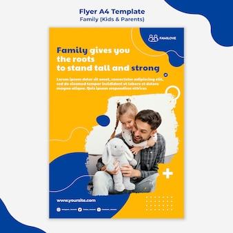 Modelo de panfleto de família com foto