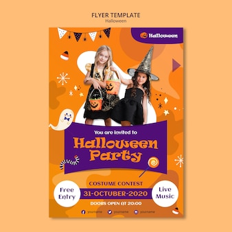 Modelo de panfleto de festa de halloween