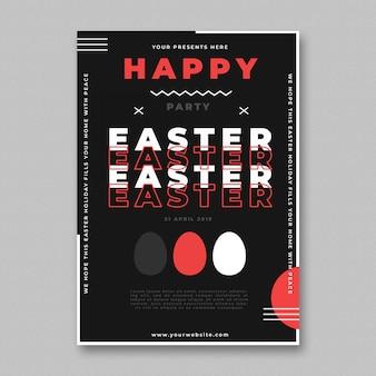 Modelo de panfleto de festa de páscoa