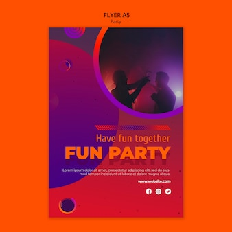 Modelo de panfleto de festa