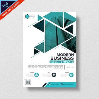 Modelo de panfleto de negócio abstrato moderno estilo triangular de geometria