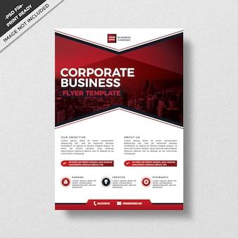 Modelo de panfleto de negócios corporativos de estilo moderno vermelho,