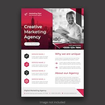 Modelo de panfleto de negócios criativos