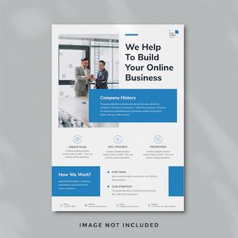 Modelo de panfleto de negócios minimalista