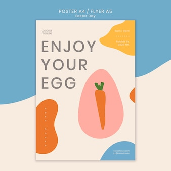 Modelo de panfleto de páscoa com cenoura