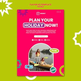 Modelo de panfleto de planejamento de férias