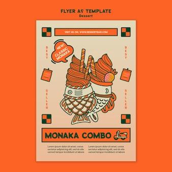 Modelo de panfleto de sobremesa