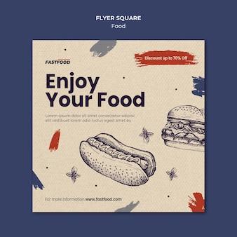 Modelo de panfleto de venda de comida Psd Premium