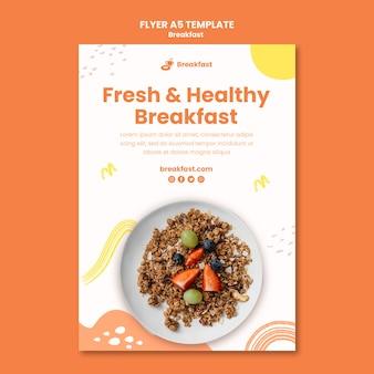 Modelo de panfleto delicioso café da manhã