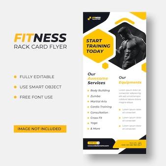 Modelo de panfleto dl de cartão de fitness