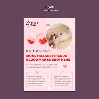 Modelo de panfleto doando sangue