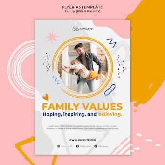 Modelo de panfleto para a família