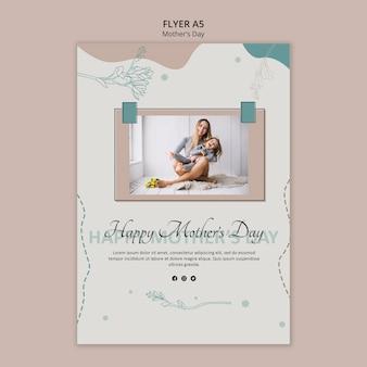 Modelo de panfleto para o dia das mães