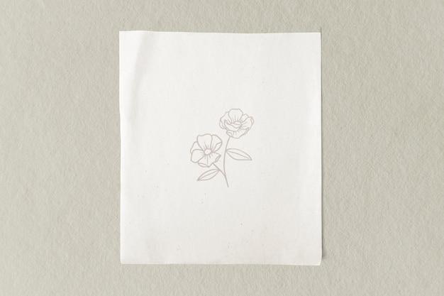 Modelo de papel branco comum em branco