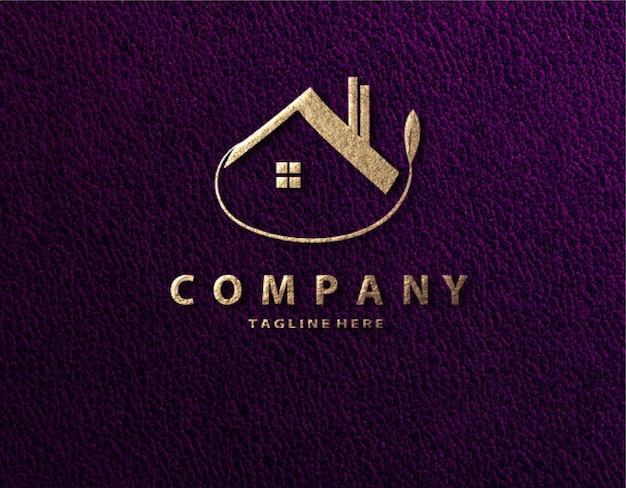 Modelo de papel de maquete de logotipo de luxo