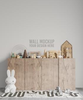 Modelo de papel de parede do quarto infantil interno